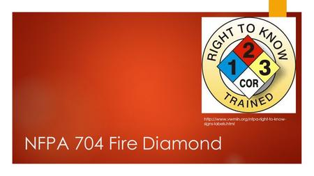 NFPA 704 Fire Diamond  signs-labels.html.