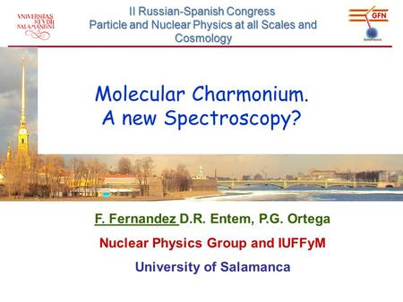 Molecular Charmonium. A new Spectroscopy? II Russian-Spanish Congress Particle and Nuclear Physics at all Scales and Cosmology F. Fernandez D.R. Entem,