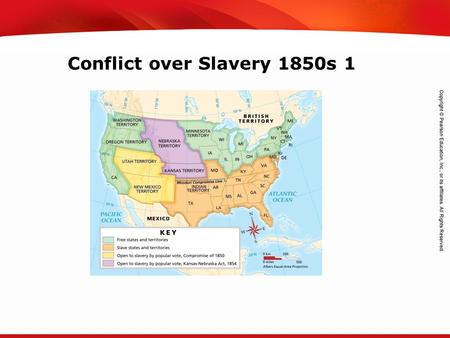 TEKS 8C: Calculate percent composition and empirical and molecular formulas. Conflict over Slavery 1850s 1.