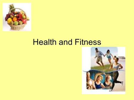 Health and Fitness. Outcomes By the end of this lesson, I will be able to: Know the difference between health and fitness. Understand how these can be.