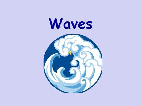 Waves Part 1: Kinds of Waves What is a Wave?  A wave is a disturbance in space/time that moves energy in a straight line from one place to another.