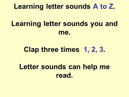 Learning letter sounds A to Z. Learning letter sounds you and me