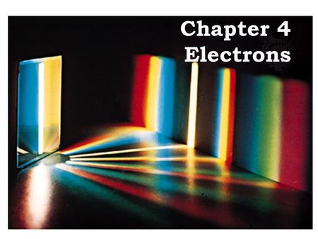 Chapter 4 Electrons. ELECTRON BEHAVIOR Who made this model of the atom?