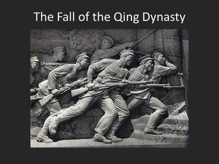 The Fall of the Qing Dynasty. Even the Empress Dowager now embraced educational, administrative, and legal reforms. After the Boxer Rebellion, China desperately.