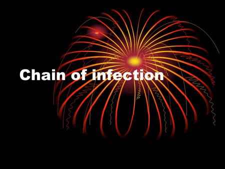 Chain of infection. Objectives: Chain of Infection 1. List the factors involved in the Chain of Infection 2. State the key role of the nurse in relation.