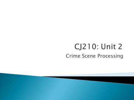 Crime Scene Processing.  Any questions before we begin about anything?  Unit 2 Seminar -Chain of Custody -Modus Operandi (MO) -Criminal Profiling -Importance.