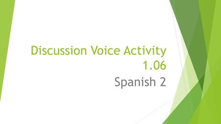 Discussion Voice Activity 1.06