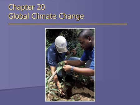 Chapter 20 Global Climate Change. Climate Change Terminology  Greenhouse Gas  Gas that absorbs infrared radiation  Positive Feedback  Change in some.