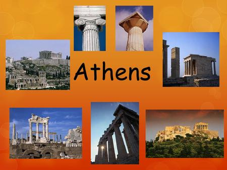 Athens. The thing that set Athens apart from the other city- states was its government. Athens was a democracy. The government of Athens, however, went.