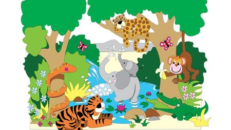 Lesson one فــى الـغــابــة WALT:- 1-Read and write new words about the jungle. 2-Identify some different types of animals that live in the jungle.