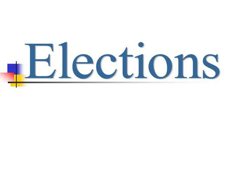 The Administration of Elections Extent of Federal control Elections need to be free, honest, and accurate Most election law in the U.S. is State Law.