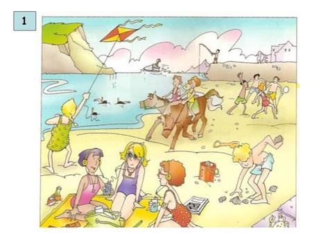 1. Picture Description – Keren Elbaz Topic: At the Beach Objectives and Enabling Skills: Pupils describe a people at the beach using adjectives, prepositions,