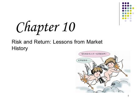 0 Risk and Return: Lessons from Market History Chapter 10.