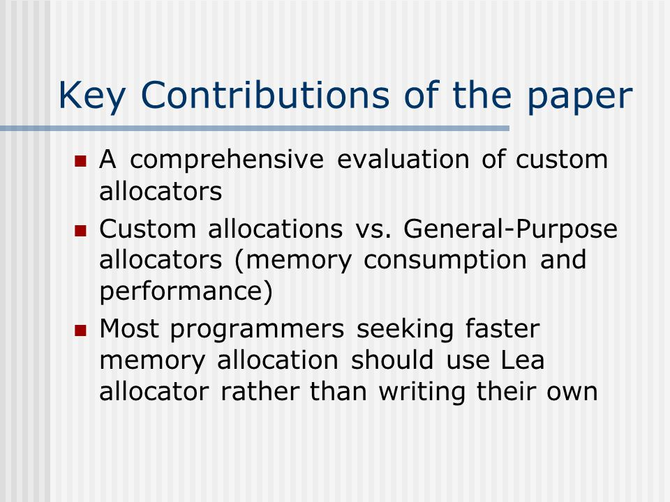 Key Contributions of the paper – Cont.