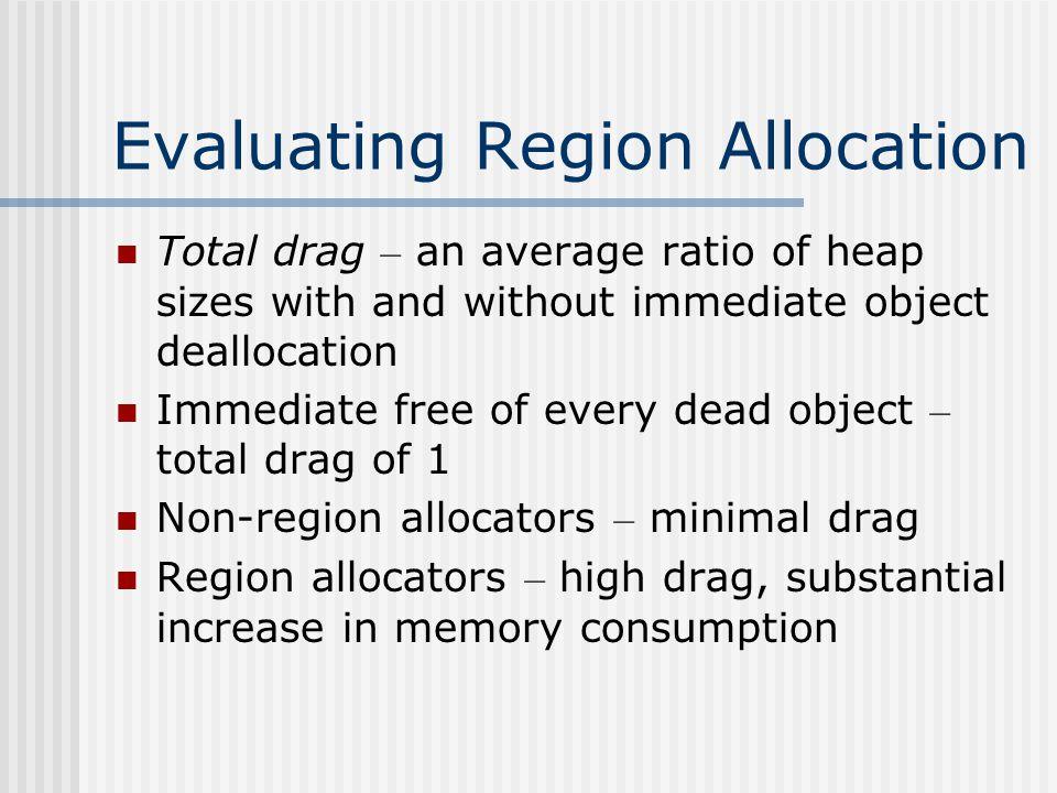 Evaluating Region Allocation – Cont.