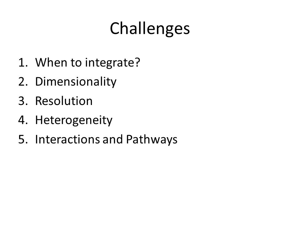 Challenge 1: When to integrate.
