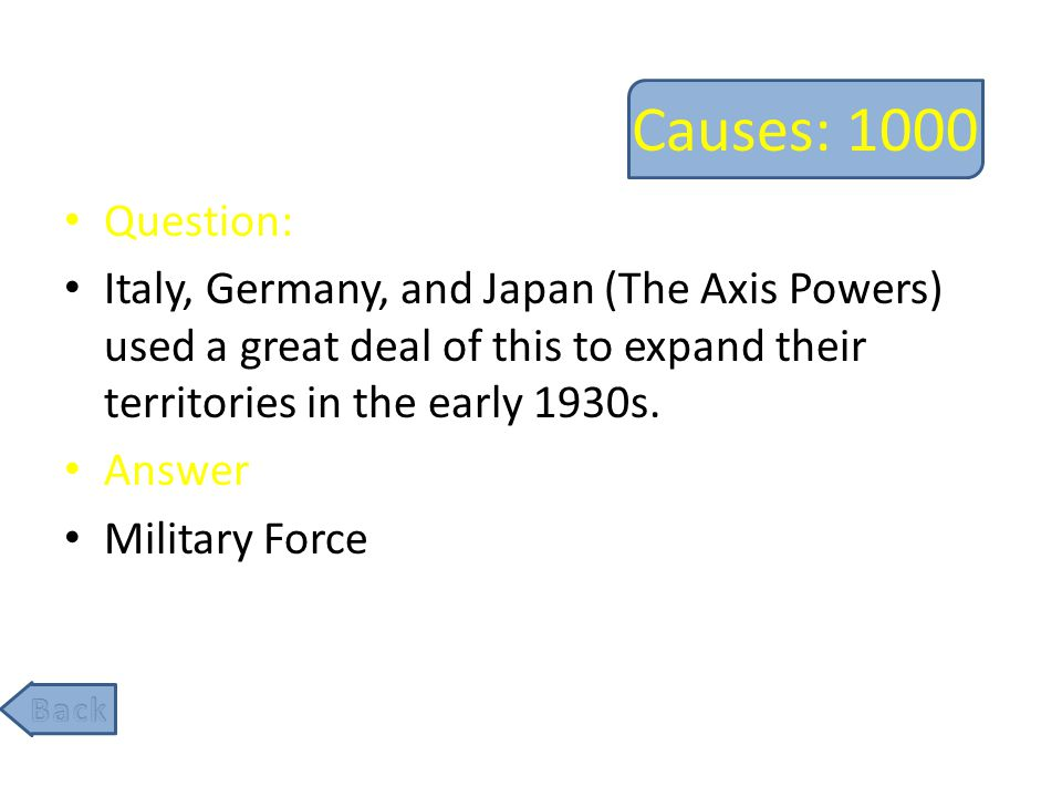 Effects: 200 Question: Most of the allies wanted to rebuild Germany as a democracy after WW2 to prevent the rise of future dictators, while the USSR wanted this type of government established, causing conflict within the allies.