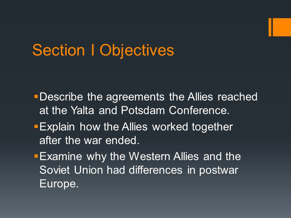 The World After War How did the Allies try to Promote Peace  The United Nations  Potsdam Conference  War crime trials