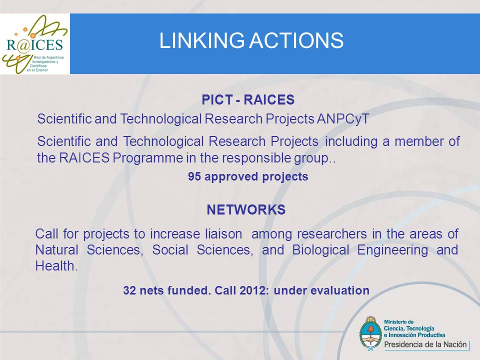 LINKING ACTIONS SEED FUNDS - SMEs Call for projects from micro and small technology-based enterprises in the areas of Nanotechnology, Biotechnology, ICTs and Engineering.