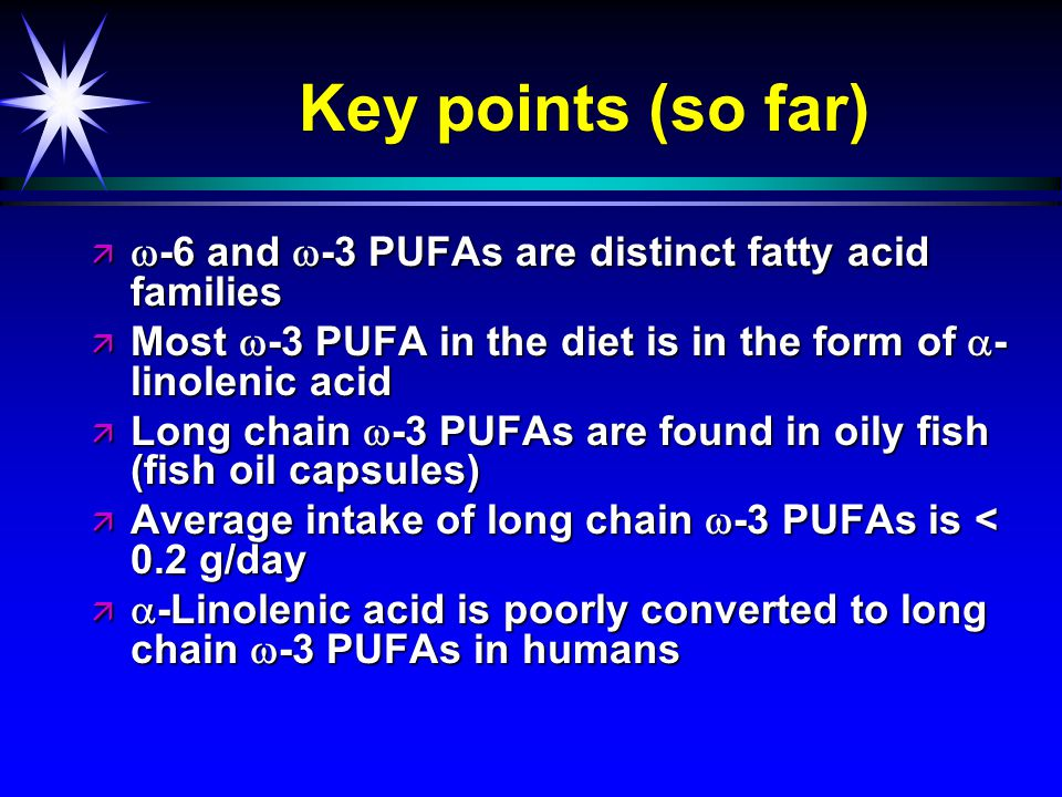 Omega-3 PUFAs and human health