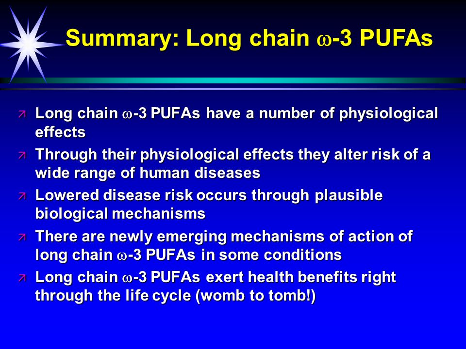 Long chain  -3 PUFAs Current intakes vs.Recommendations (g/day) Current av.