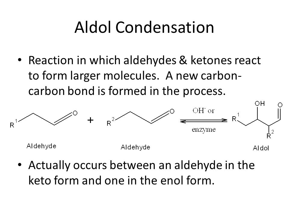 Example Write an equation for the aldol condensation of two molecules of butanal.