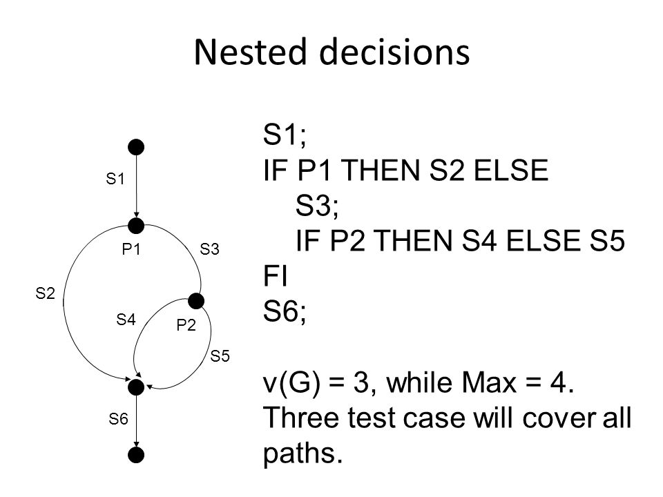 Using a decision table – 1 A decision table is a general technique used to achieve full path coverage.