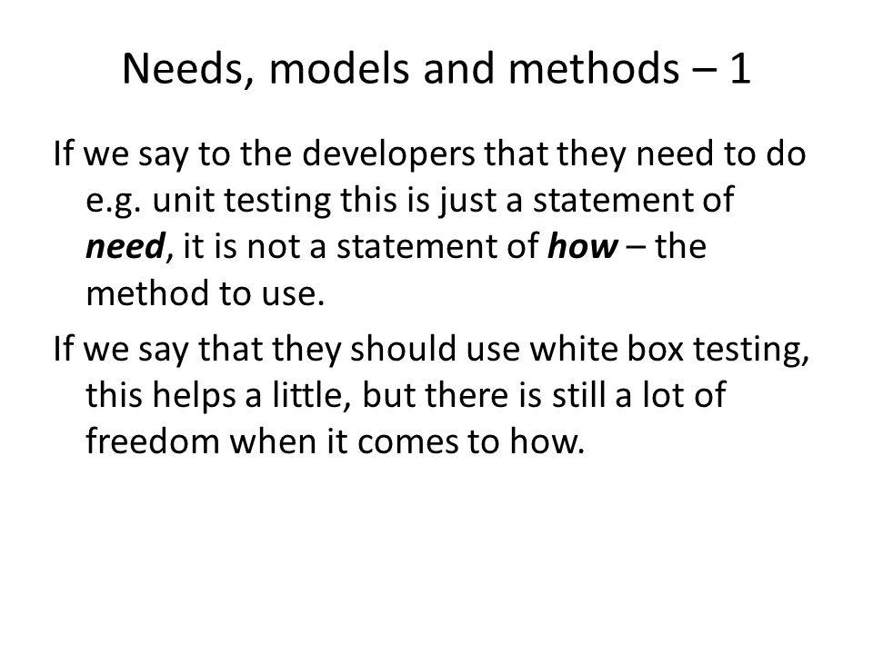 Example – white box testing White box testing => Static white box testing => – Code inspection – Code walkthrough Dynamic white box testing => – Statement coverage – Path coverage – Decision coverage – All define – use coverage