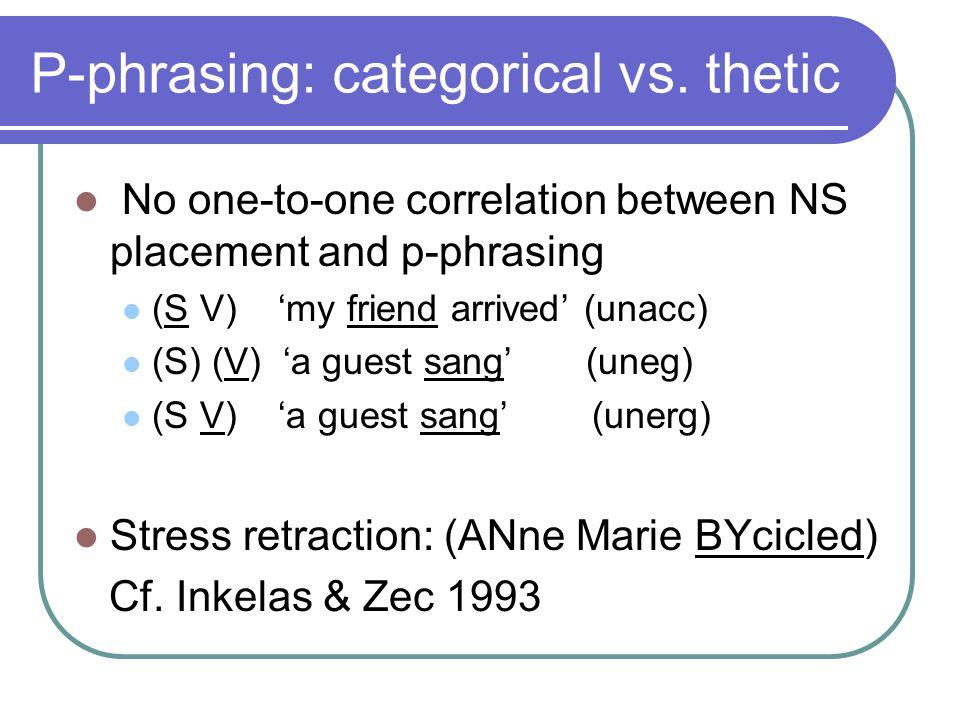 Nuclear Stress: Germanic vs.