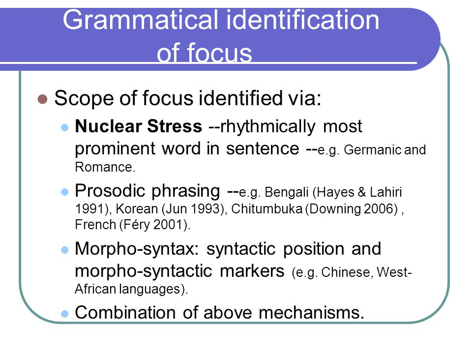 Nuclear Stress and Focus.