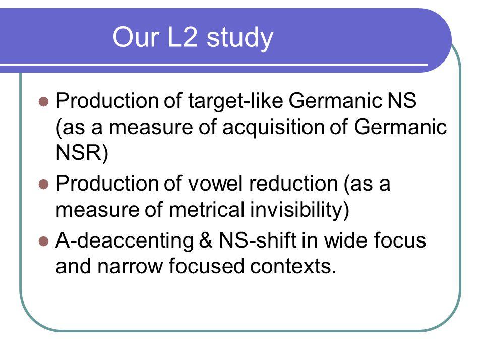 Studies on L2 rhythm Studies on L2 rhythm: e.g.