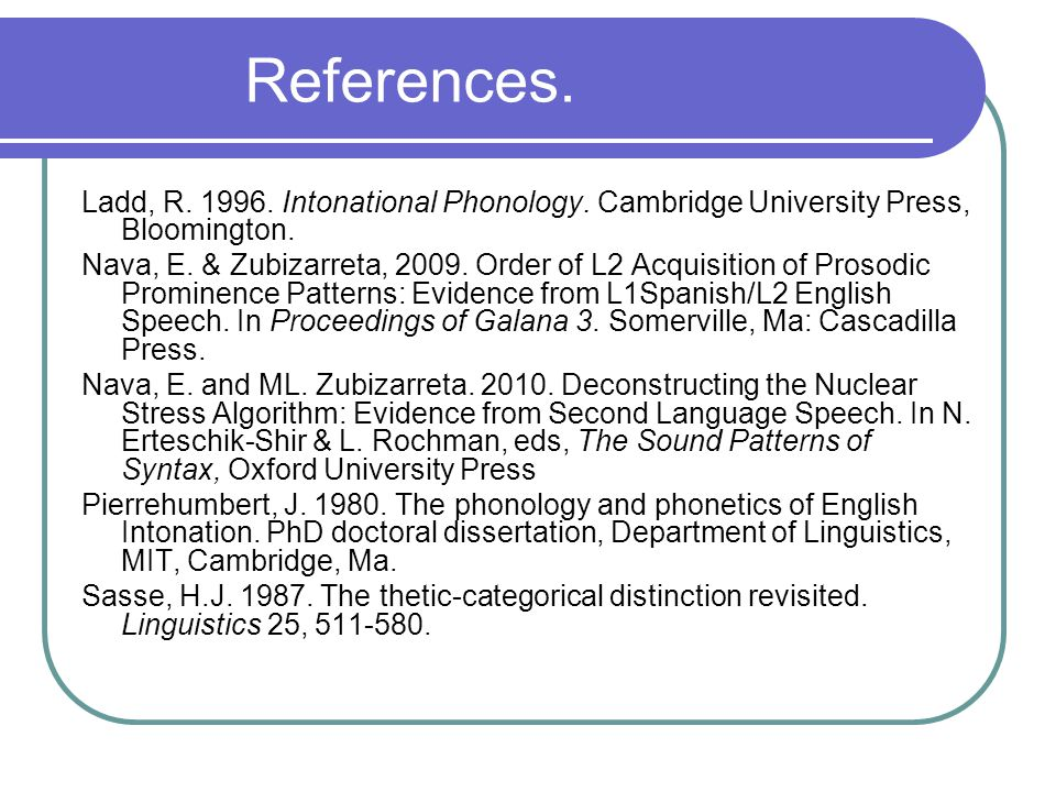 References.Selkirk, E. 1984.
