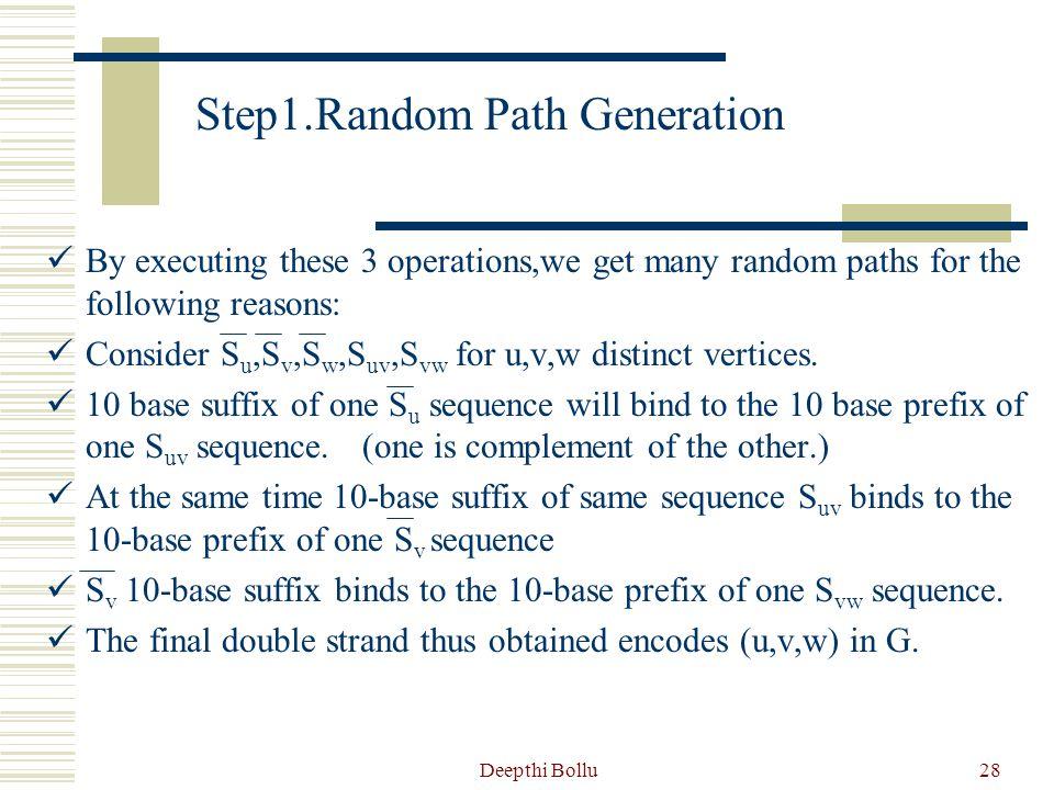 Deepthi Bollu29 Examples of random paths formed S2S2 S4S4 S6S6 sS2S2 S3S3 E24E24 E46E46 E62E62 E2sE2s Es3Es3 S6S6 tS5S5 S3S3 E5tE5t E35E35 E63E63 sS2S2 Es2Es2