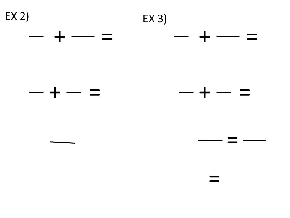 += EX 4) = Try __________ your _________ first to make your problem easier = +