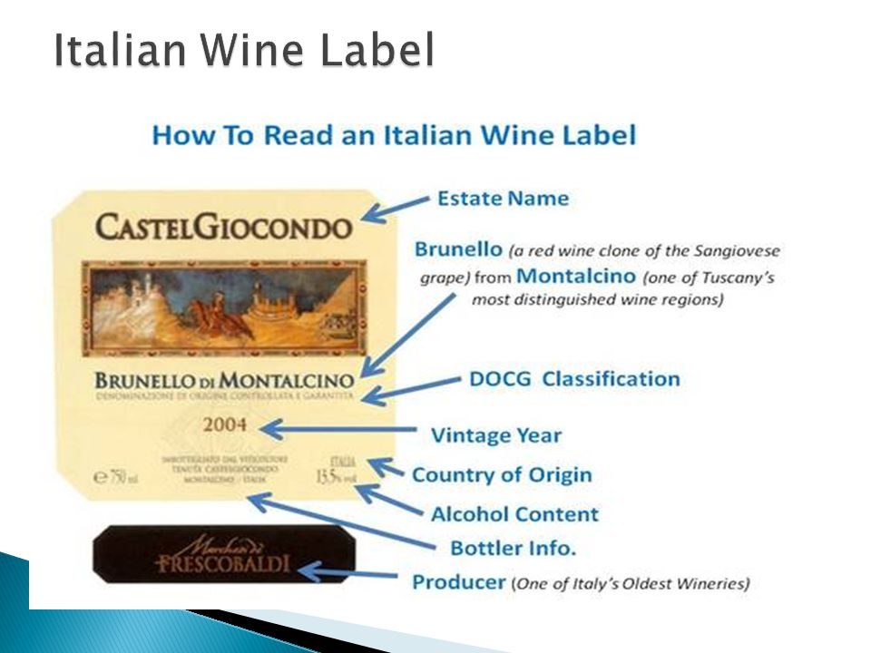  Italy produces 20 % of the worlds wine  Italy produces 3.3 billion bottles of wine (2008)  The U.S.