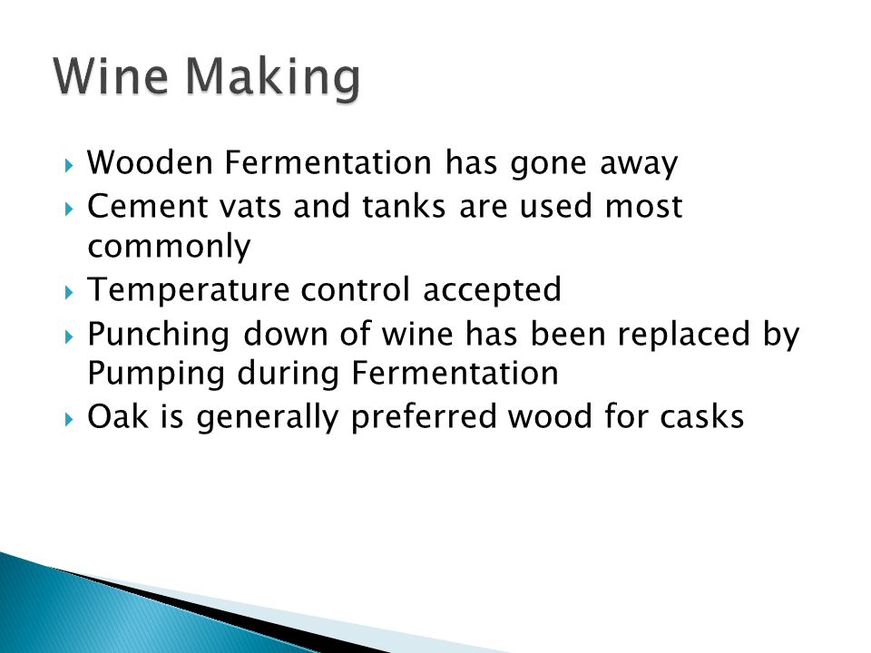  Destemming  Crushing  Primary Fermentation  Pressing  Secondary Fermentation  Filtering the Wine  Bottling