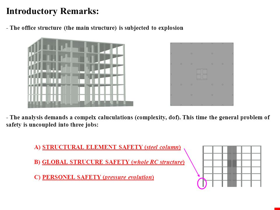 Introductory Remarks: Structural safety criteria 1.