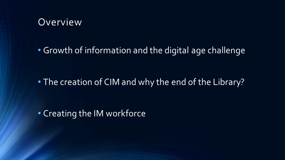 Growth of Information and Challenges ahead