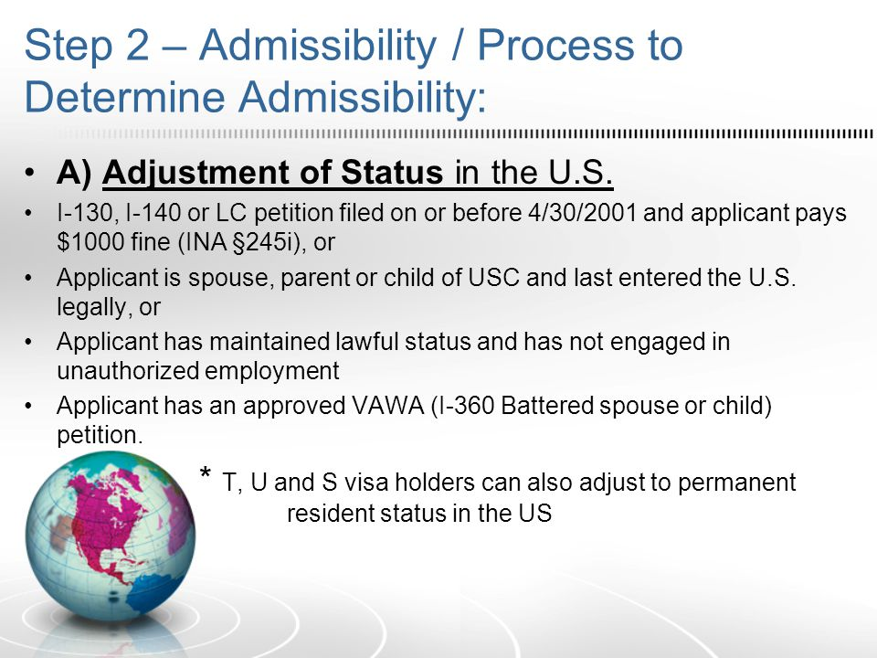 B) Consular Processing 1.Beneficiary returns to his or her home country to apply for an immigrant visa at the U.S.