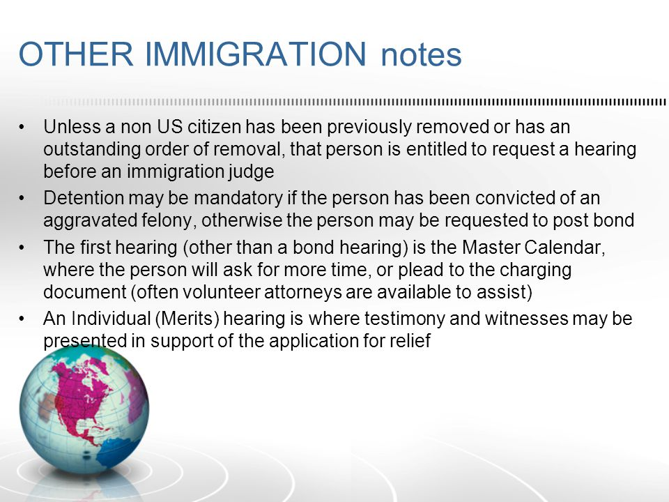 OTHER IMMIGRATION notes Appeals: - Appeals from a decision of the Immigration Judge are usually heard by the Board of Immigration Appeals (BIA) -Petitions for Cert from decisions of the BIA may be filed with the Federal Circuit Court of Appeals where case originated Note: Some administrative decisions are appealed to the Administrative Appeals Unit