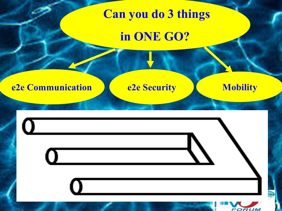Can you do 3 things in ONE GO? e2e Security Mobility e2e Communication