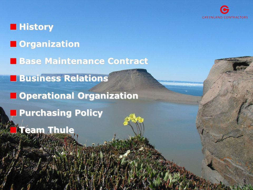 3 History GC was established in 1985 as a continuation of Danish Arctic Contractors (DAC) established in 1952.