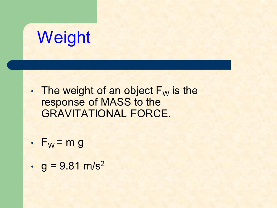 Units The units of mass is the kilogram (in MKS system) and the slug (in Imperial system).