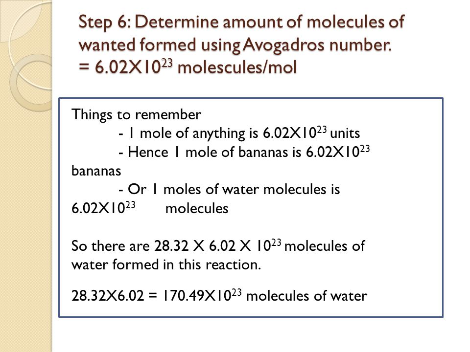 Step 7: Write it all out in stoichiometry method and circle answer Correction.