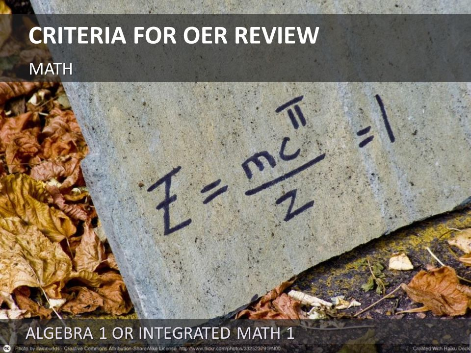 UNITS IN 11 TH -12 TH GRADE BAND CRITERIA FOR OER REVIEW ENGLISH LANGUAGE ARTS