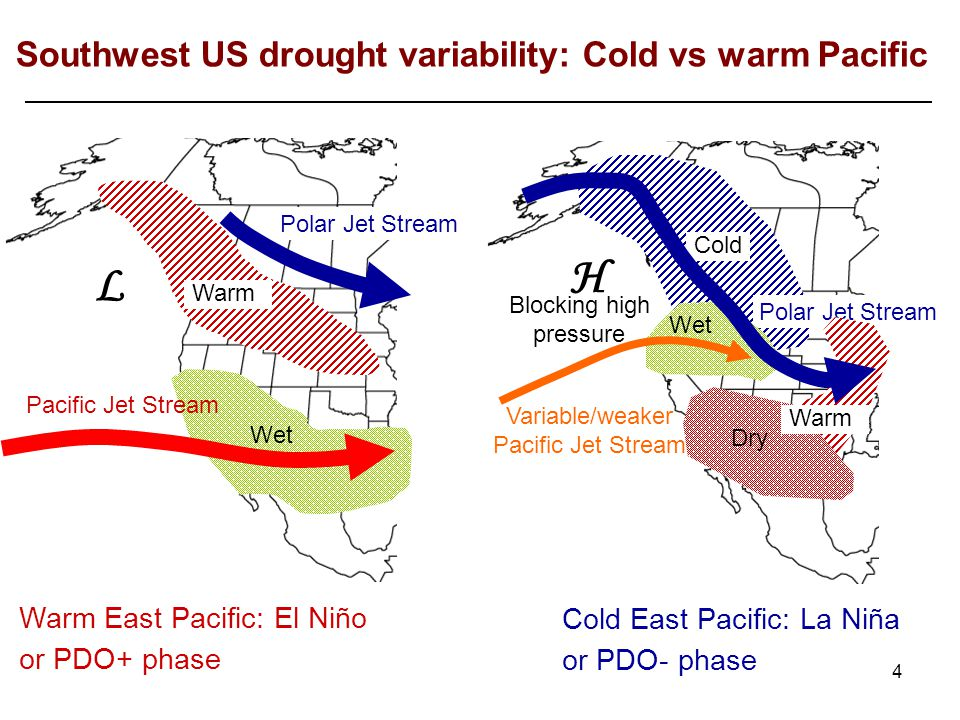 To investigate variability in precipitation with the PDO, Iris has focused on Arizona and New Mexico.
