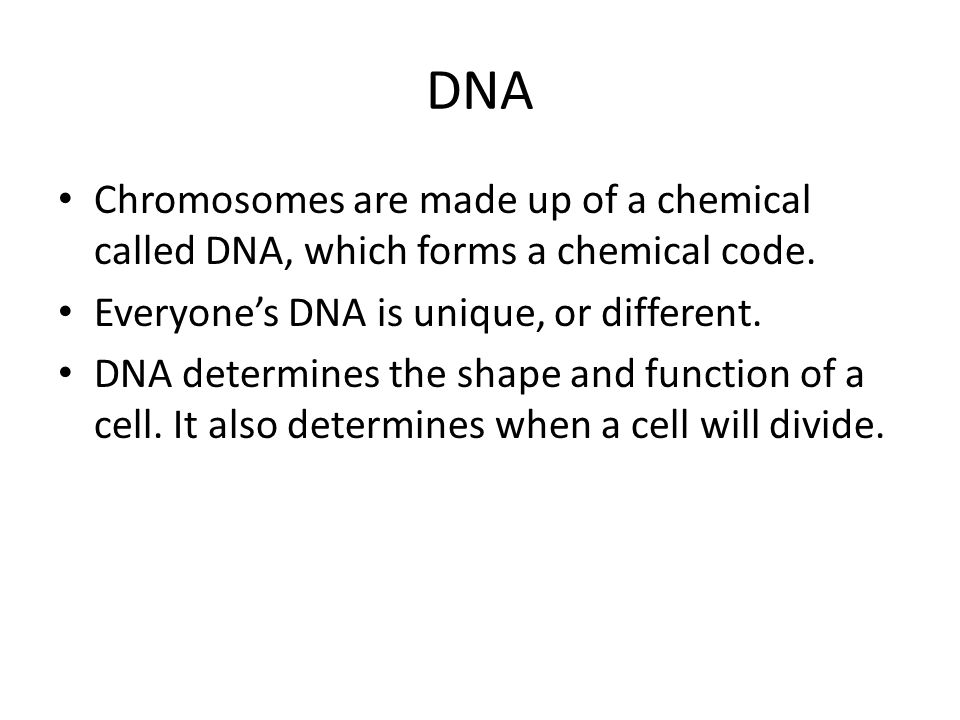 Mitosis Whenever a cell divides it must get an exact copy of the parent cell's chromosomes.