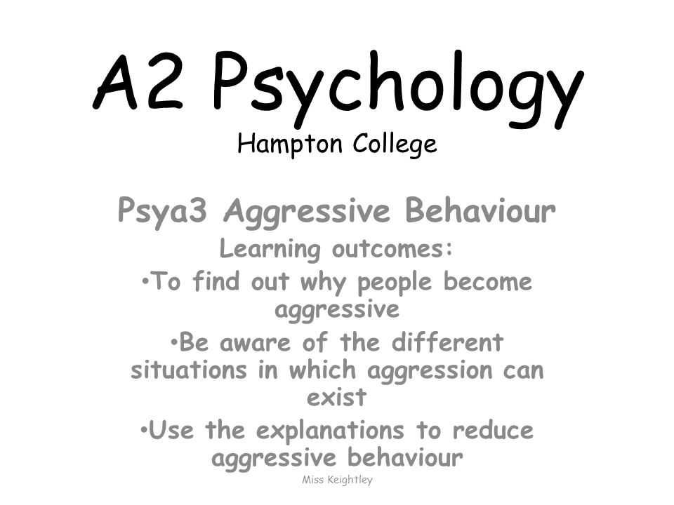 A2 Psychology Overview – resit revision for AS papers at Friday lunch Psya3Psya4 Aggression Sleep Eating behaviour Gender Schizophrenia Research methods Addictive behaviour
