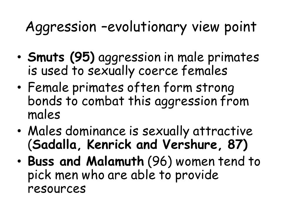 Craig- 1 st attempt to study aggression from an evolutionary point of view Concept of Ritualised Aggression –aggression is often for show/power not for damage.