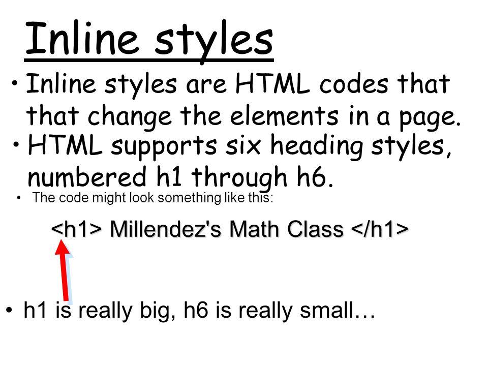 Millendez s Math Class Millendez s Math Class
